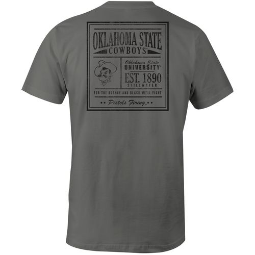 Image One Men's Oklahoma State University Comfort Color Vintage Poster Short Sleeve T-shirt