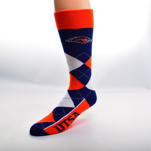 For Bare Feet Adults' University of Texas at San Antonio Team Pride Flag Top Dress Socks