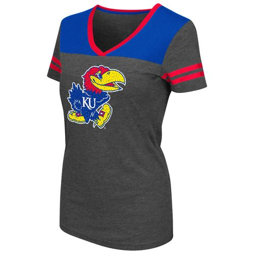 Colosseum Athletics™ Women's University of Kansas Twist V-neck