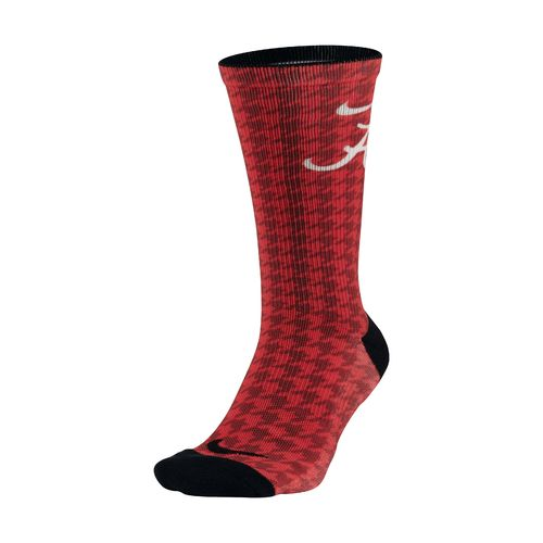 Nike Men's University of Alabama Digital Print Crew Socks