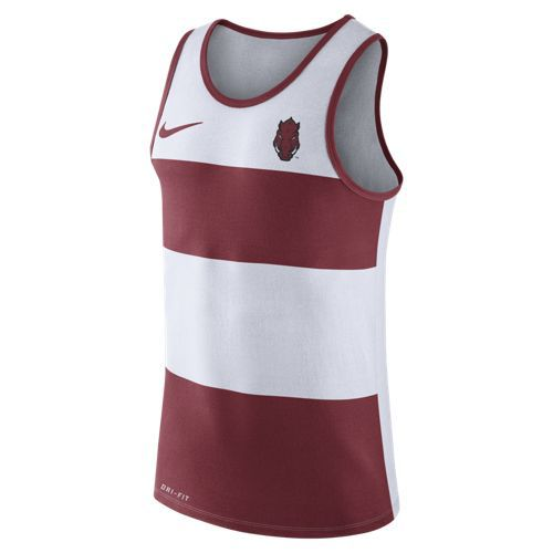 Nike™ Men's University of Arkansas Stripe Tank Top