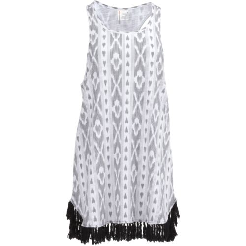 O'Rageous Juniors' Tassel Hem Tank Dress Cover-Up