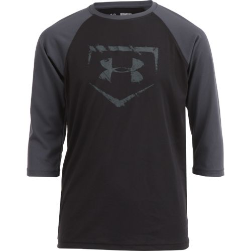 Under Armour™ Boys' BSBL Diamond 3/4 Sleeve T-shirt