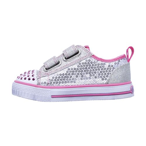 SKECHERS Toddlers' Twinkle Toes Shuffles Itsy Bitsy Casual Shoes - view number 3