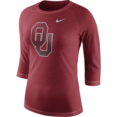 Nike Women's University of Oklahoma Champ Drive Raglan T-shirt