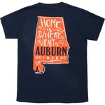 New World Graphics Girls' Auburn University Where the Heart Is T-shirt - view number 4