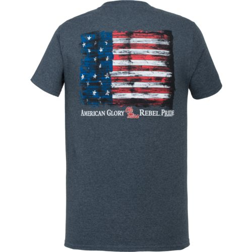 New World Graphics Men's University of Mississippi Flag Glory T-shirt