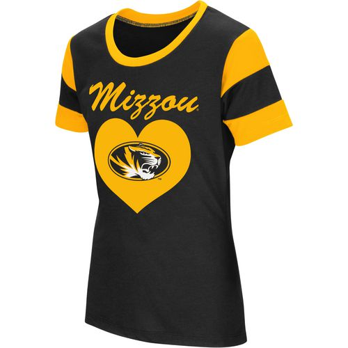 Colosseum Athletics Girls' University of Missouri Bronze Medal Short Sleeve T-shirt