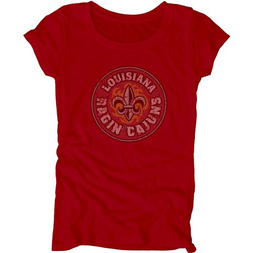 Blue 84 Juniors' University of Louisiana at Lafayette Mascot Soft T-shirt