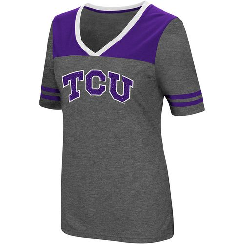 Colosseum Athletics Women's Texas Christian University Twist V-neck 2.3 T-shirt