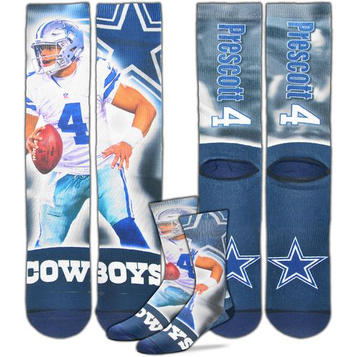 For Bare Feet Men's Dallas Cowboys Dak Prescott City Star Player Crew Socks
