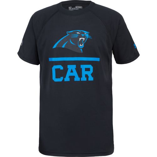 Under Armour Boys' Carolina Panthers NFL Combine Authentic Lockup Tech T-shirt