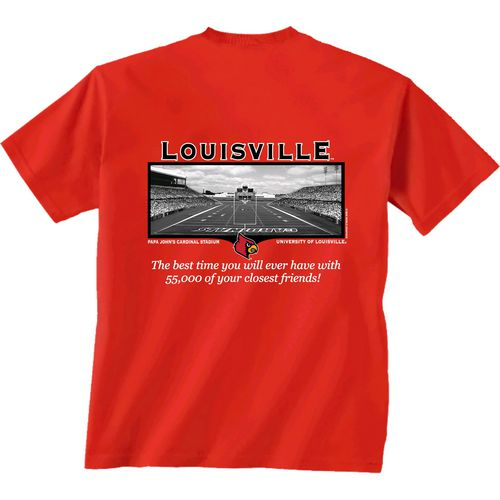 New World Graphics Men's University of Louisville Friends Stadium T-shirt