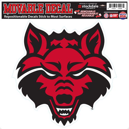 Stockdale Arkansas State University 12 in x 12 in Single Logo Decal