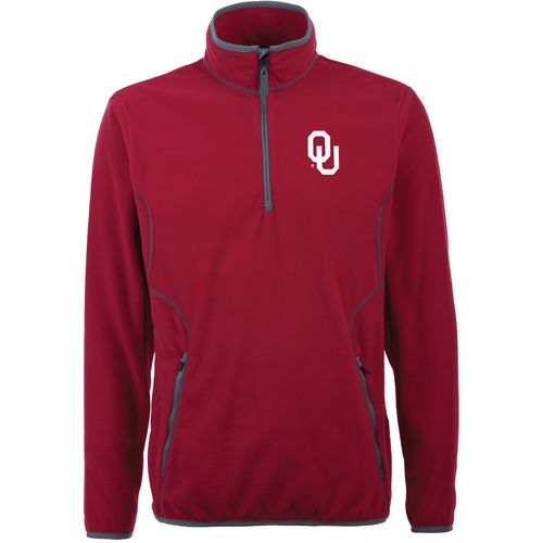 Antigua Men's University of Oklahoma Ice 1/4 Zip Pullover