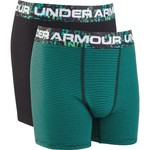 Under Armour Boys' Solid Stripe Cotton Boxer Briefs 2-Pack - view number 1