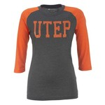 Colosseum Athletics Women's University of Texas at El Paso Vision 3/4 Sleeve T-shirt