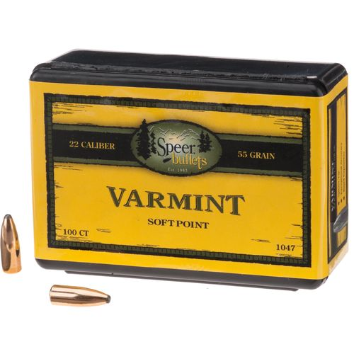 Speer .22 55-Grain Varmint Soft-Point Bullets