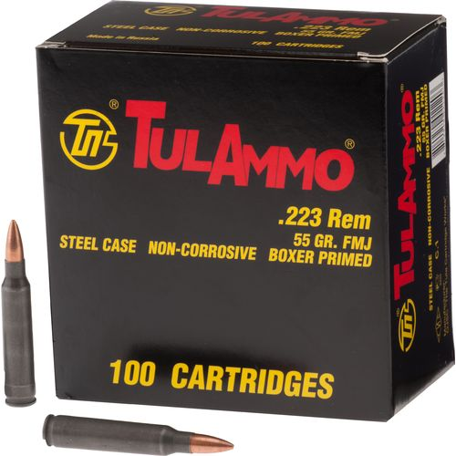 TulAmmo TA223100 .223 Remington/5.56 NATO 55-Grain FMJ Centerfire Rifle Ammunition