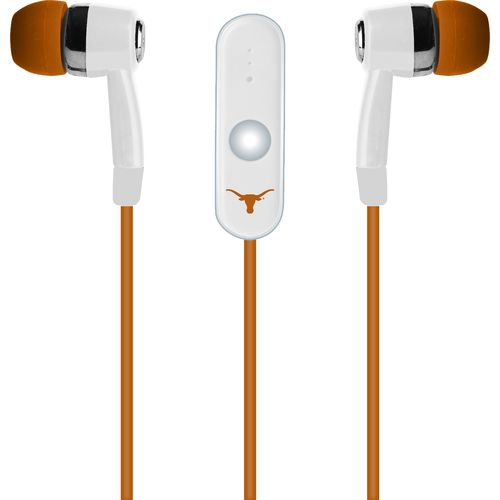 Mizco University of Texas Stereo Hands-Free Earbuds