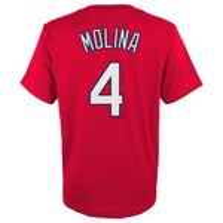 Majestic Boys' St. Louis Cardinals Yadier Molina #04 T-shirt