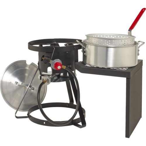 Outdoor gourmet pro 10 qt fish fryer set wit with side for Outdoor fish fryers propane