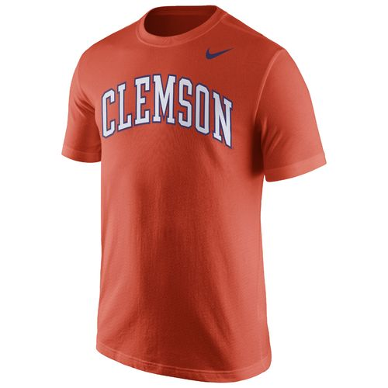 Nike Men's Clemson University Cotton Short Sleeve Wordmark