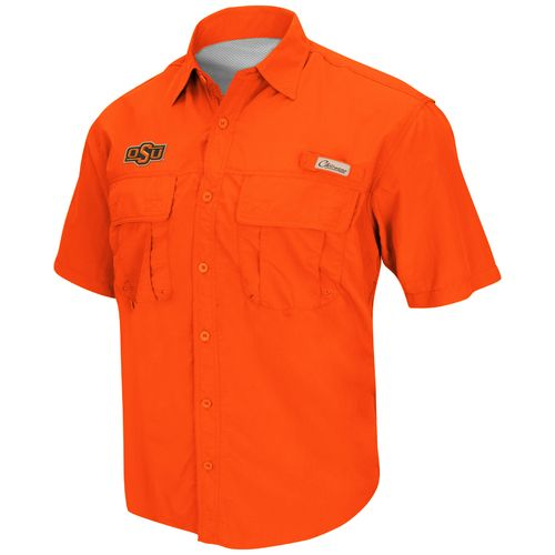 Colosseum Athletics Men's Oklahoma State University Swivel Fishing Shirt