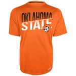 Majestic Men's Oklahoma State University Section 101 Heather Raglan Synthetic T-shirt