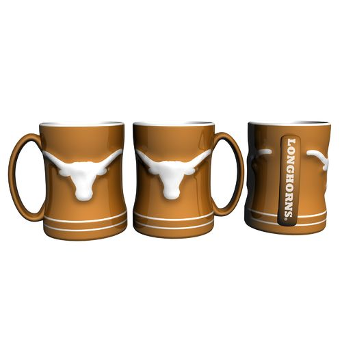 Boelter Brands University of Texas 14 oz. Relief-Style Coffee Mug
