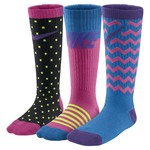 Nike Girls' Lightweight Cotton Crew Socks 3-Pack