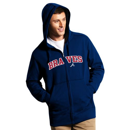 Antigua Men's Atlanta Braves Signature Full Zip Hoodie - view number 1