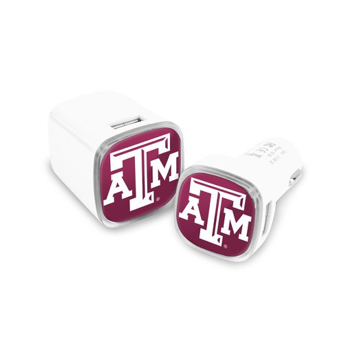 Mizco Texas A&M University USB Chargers 2-Pack