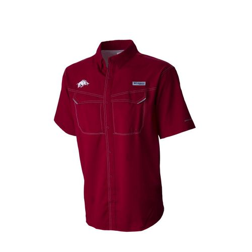 Columbia Sportswear Men's University of Arkansas Low Drag Offshore Short Sleeve Shirt