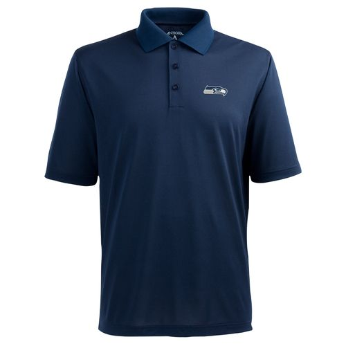 Antigua Men's Seattle Seahawks Piqué Xtra-Lite Polo Shirt - view number 1
