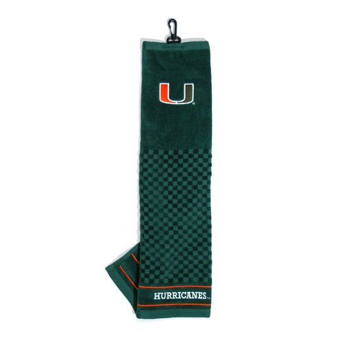 Team Golf University of Miami Embroidered Towel