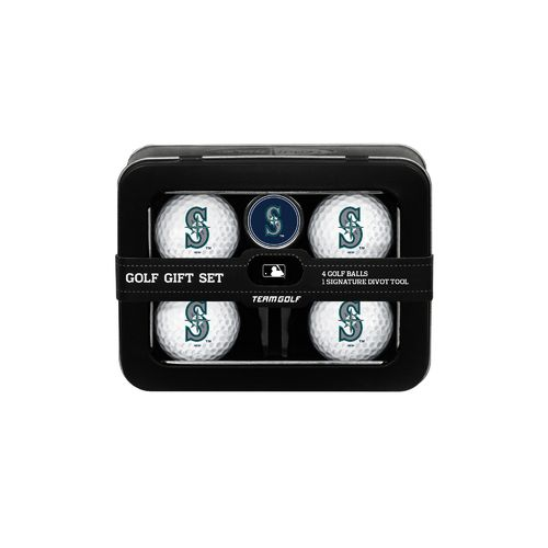 Team Golf Seattle Mariners 4-Ball Tin Gift Set