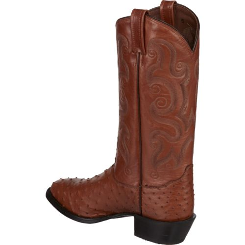 Tony Lama Men's Peanut Brittle Exotics Ostrich Western Boots - view number 3
