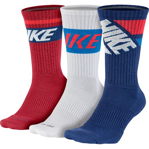 Nike Adults' Dri-FIT Fly Rise Crew Socks 3-Pair