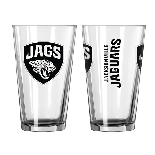 Boelter Brands Jacksonville Jaguars Game Day 16 oz. Pint Glasses 2-Pack