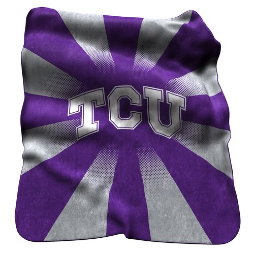 Logo Texas Christian University Raschel Throw