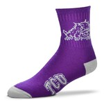 For Bare Feet Men's Texas Christian University Originals Team Quarter Socks