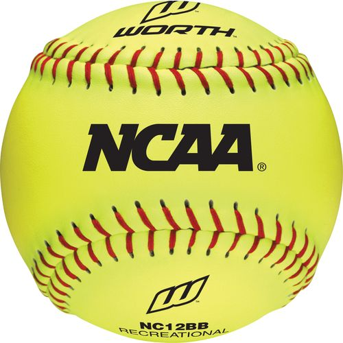 "Worth® 12"" NCAA Training Softballs 6-Pack"