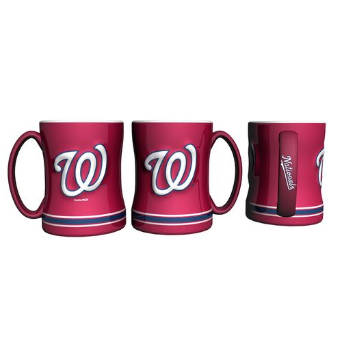 Boelter Brands Washington Nationals 14 oz. Relief Coffee Mugs 2-Pack