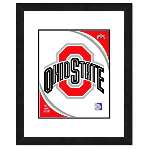 Photo File Ohio State University Logo 16' x 20' Matted and Framed Photo