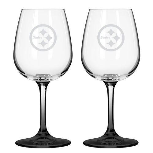 Boelter Brands Pittsburgh Steelers 12 oz. Wine Glasses 2-Pack - view number 1