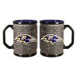 Boelter Brands Baltimore Ravens Stone Wall 15 oz. Coffee Mugs 2-Pack