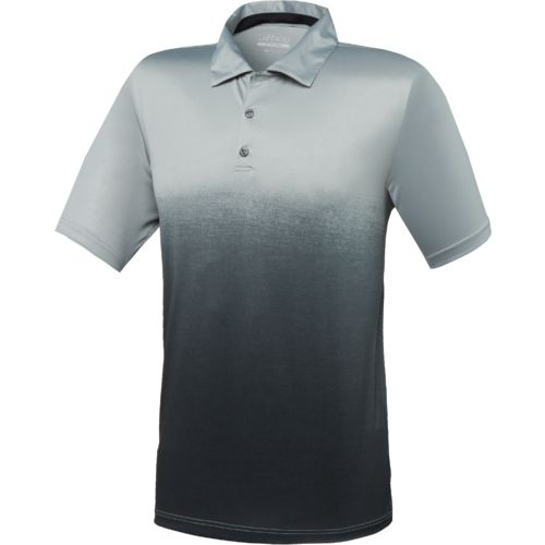 BCG Men's Golf Ombre Stripe Tru-Wick Short Sleeve Polo Shirt
