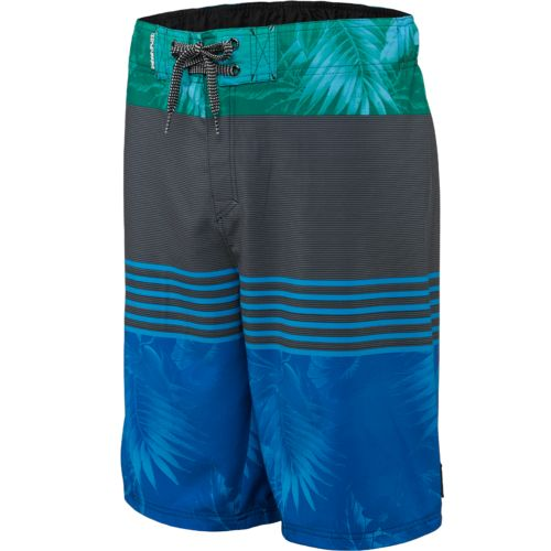Ocean Current Young Men's Tropicas Subtle Floral Print Colorblock Boardshort