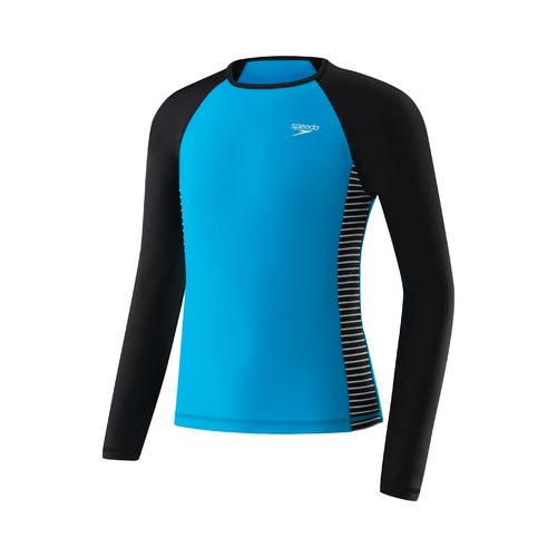 Speedo Girls' Raglan Long Sleeve Rash Guard